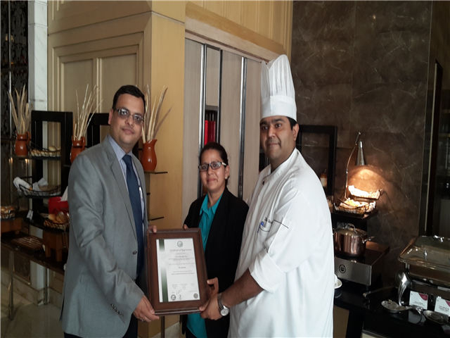 URS Recognizes Food Safety System of Hotel Crown Plaza Mayur Vihar New Delhi and issued ISO 22000 certificate