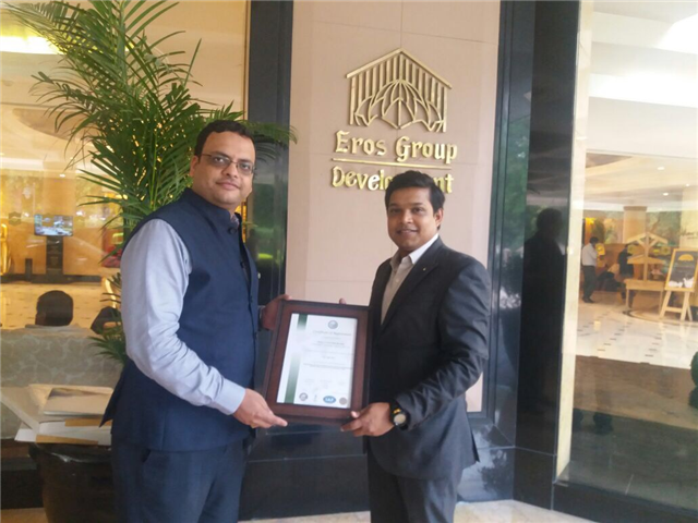 SHANGRI LA EROS HOTEL, NEW DELHI certified for ISO 22000 Food Safety Management System Standard