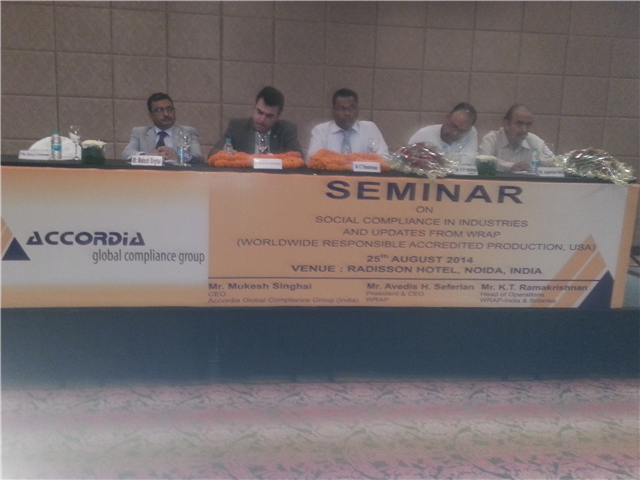 SEMINAR ON SOCIAL COMPLIANCES, SAFETY CONCERNS AND MEASURES - ORGANIZED BY URS- ACCORDIA